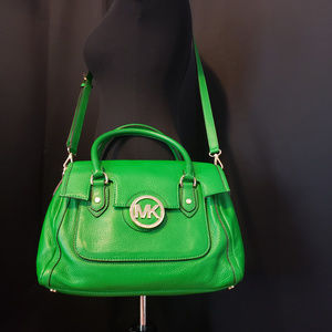 Michael Kors Green Satchel Crossbody Purse